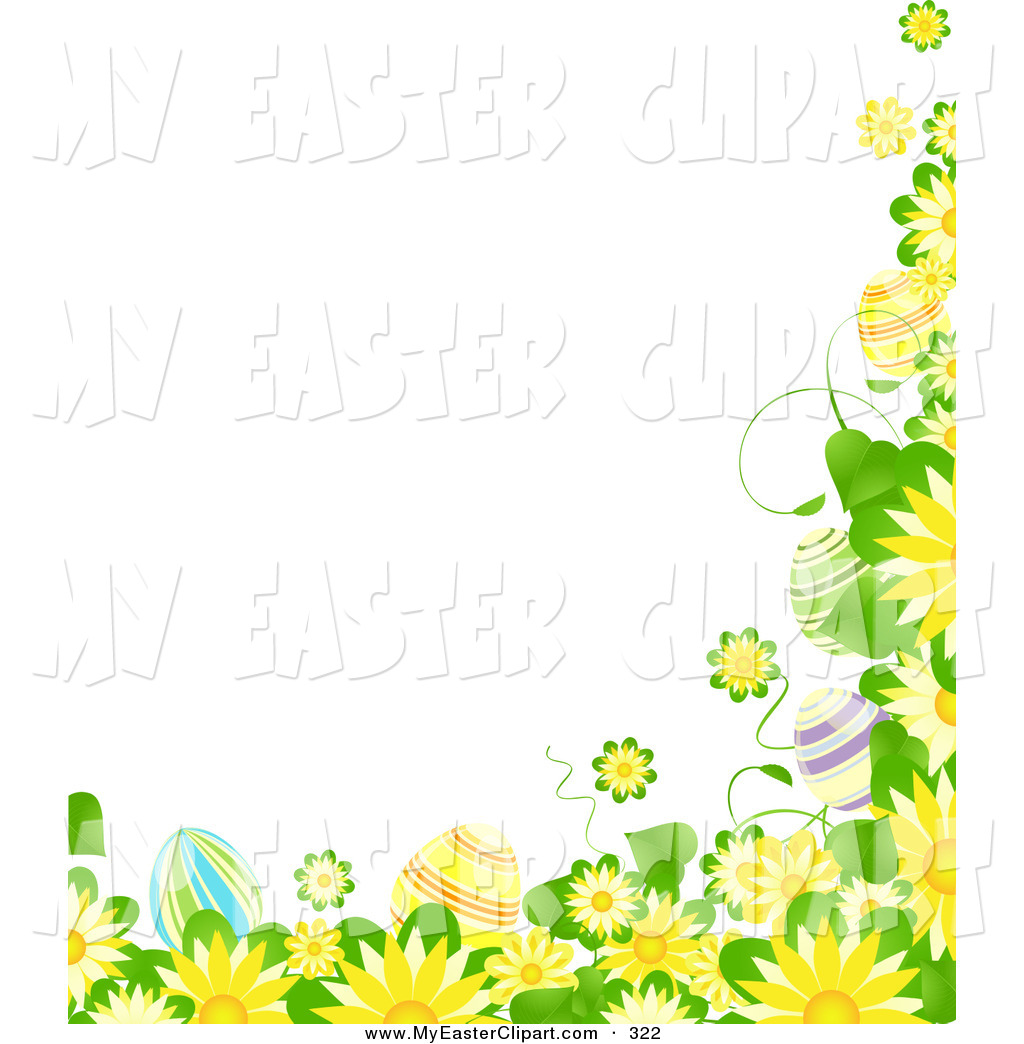 Leaves And Colorful Easter Eggs Easter Clip Art Elaine Barker