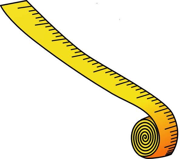 Measuring Tape Clipart Black And White Tape Measure Clip Artmeasuring