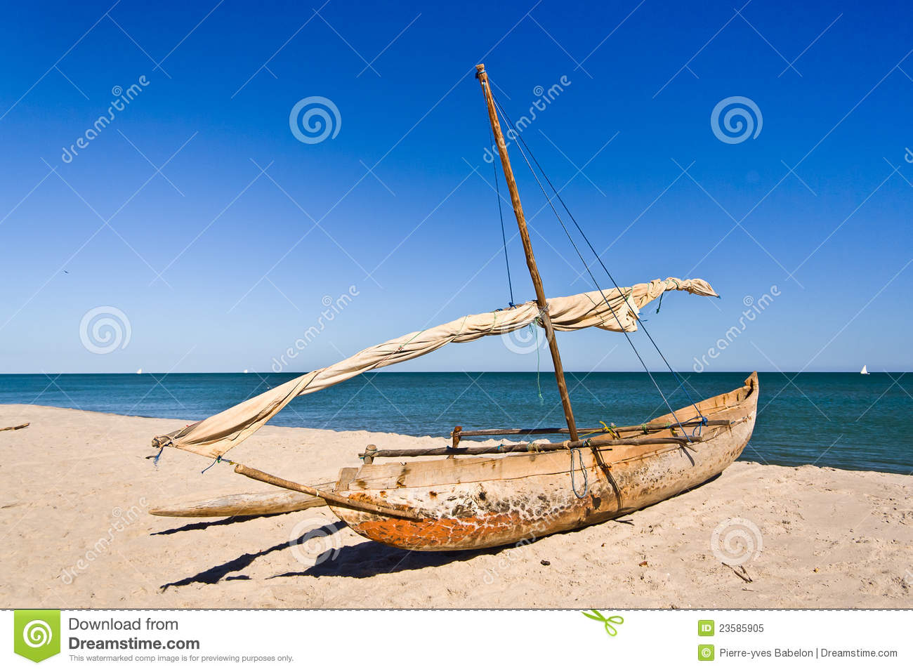Outrigger Canoe Royalty Free Stock Photo   Image  23585905