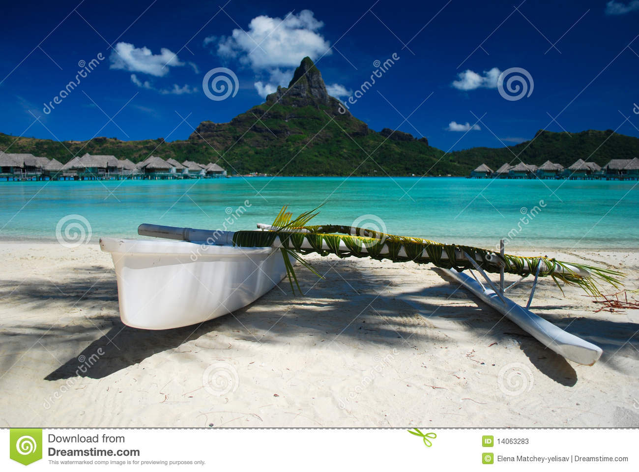 Outrigger Canoe Stock Photos   Image  14063283