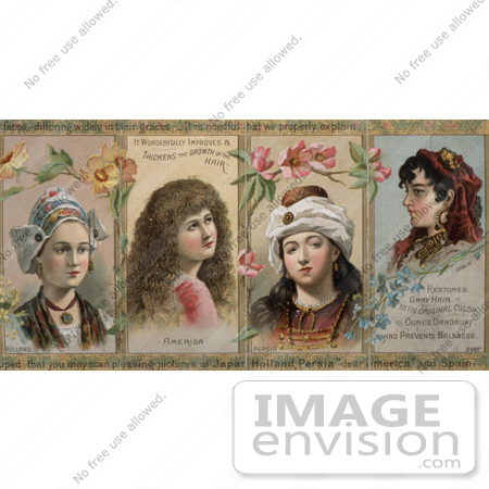 Photo Of Holland American Persian And Spanish Women On A Vintage