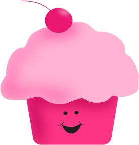 Pink Happy Cupcake   Pink Happy Cupcake In A Pink Cupcake Liner With A