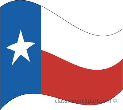State Flags   Texas Flag Waving   Classroom Clipart