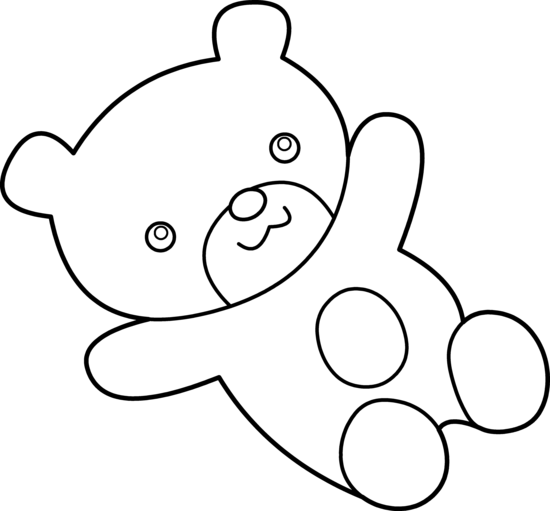 Teddy Bear Clip Art Black And White   Clipart Panda   Free Clipart