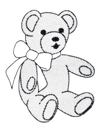 Teddy Bear Black And White Clipart - Clipart Suggest