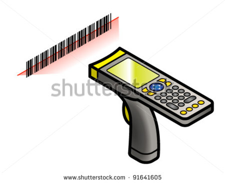 Barcode Scanner Clipart A Hand Held Barcode Scanner