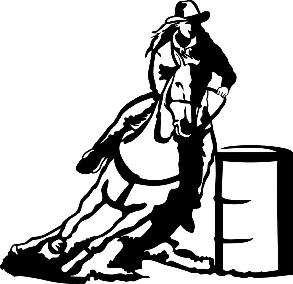 Barrel Racing Silhouette Clip Art Barrel Racing