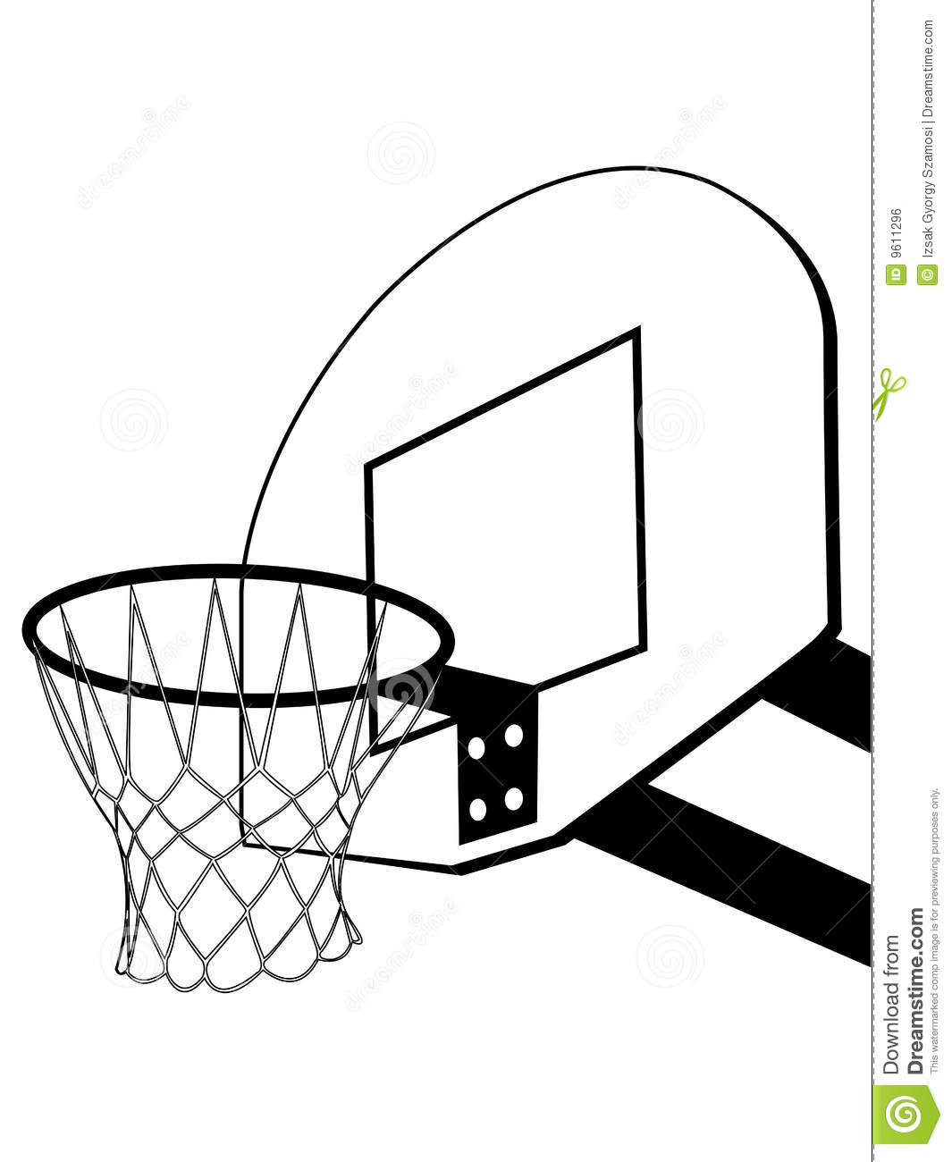 Black And White Basketball Backboard Clipart - Clipart Kid