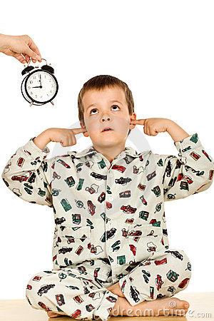 Bedtime For A Disobedient Kid Stock Photo   Image  9666700