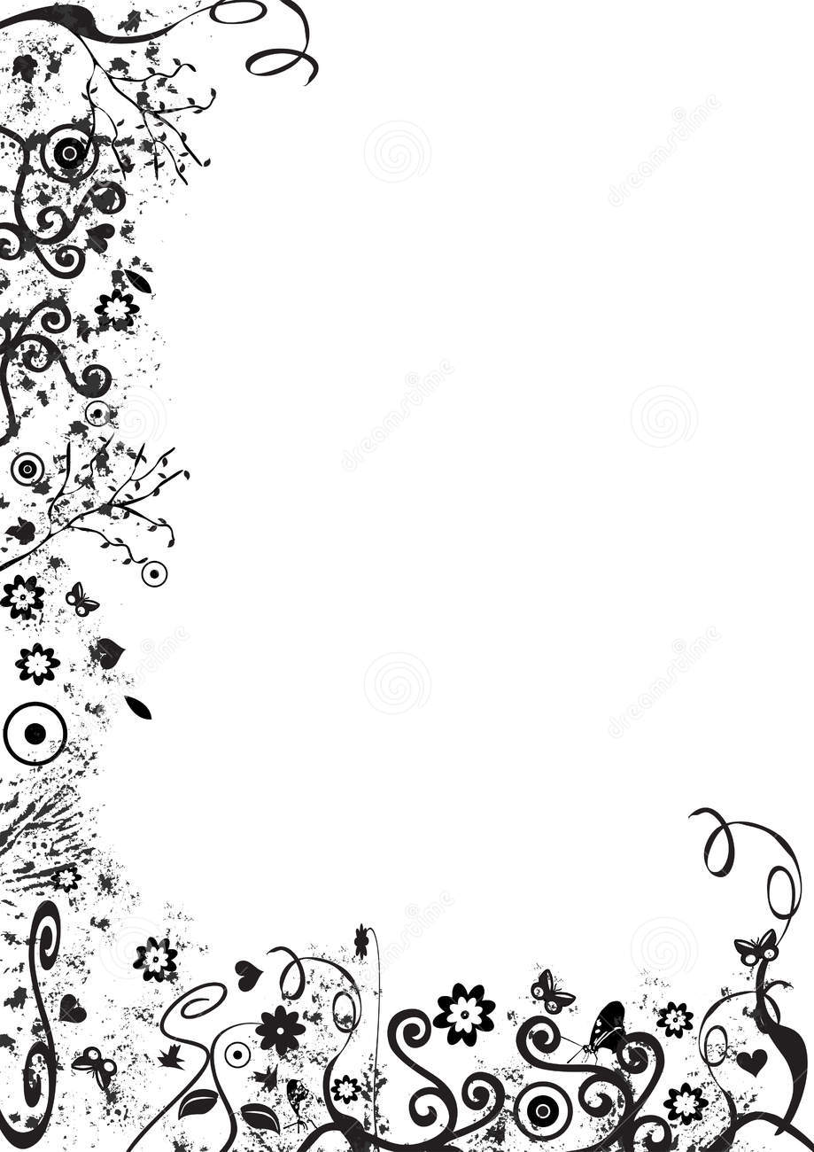Fancy borders clipart clipart suggest - Black n white designs ...