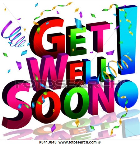 Clip Art   Get Well Soon Message  Fotosearch   Search Clipart