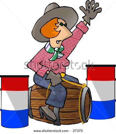 Clipart Illustration Of A Female Barrel Racer Only She S Racing A
