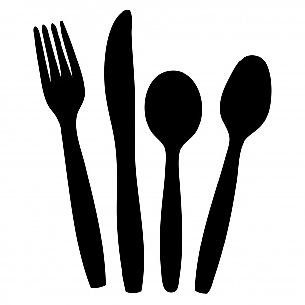 Cutlery Black Silhouette Clipart By Karen Arnold