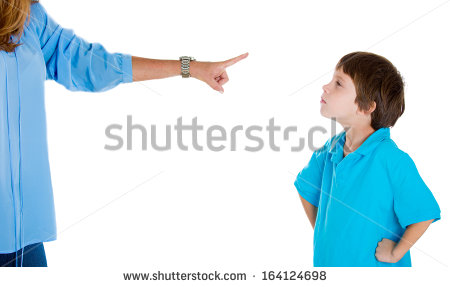 Disobedient Child Clipart Pointing At Child In Blue