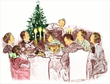 Free Family Christmas Dinner Clipart   Free Clipart Graphics Images
