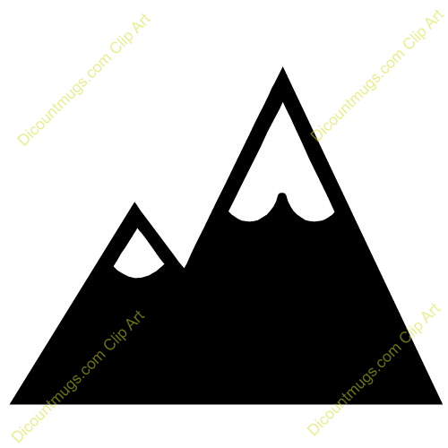Clip Art Of Snowy Mountain Top Clipart - Clipart Suggest