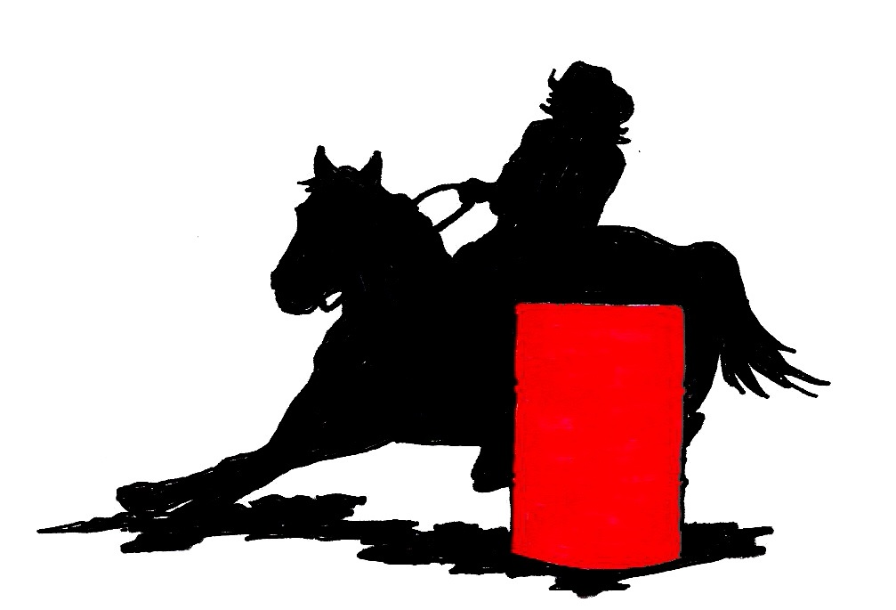 Clip Art Barrel Racing Clip Art ladies barrel racer clipart kid go back gallery for racing silhouette bull riding