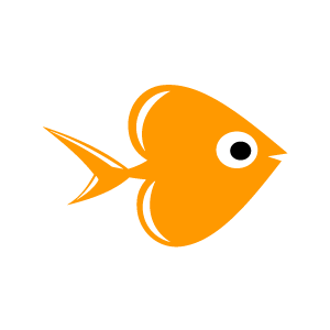 Heart Clipart   Orange Fish Swimming With Black Background   Download