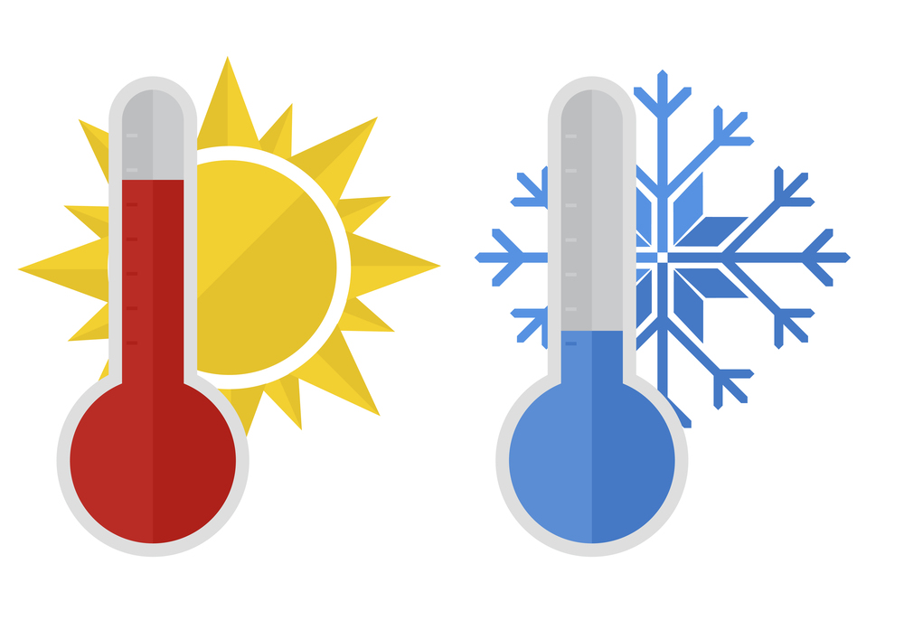 Hot and Cold Clip Art
