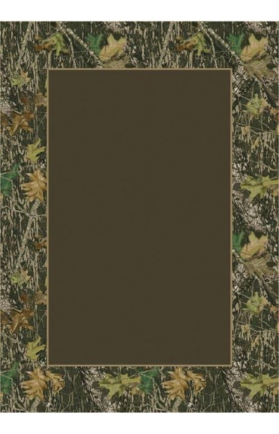 Milliken Mossy Oak Camo Breakup Solid Center Rug   Country   Floral