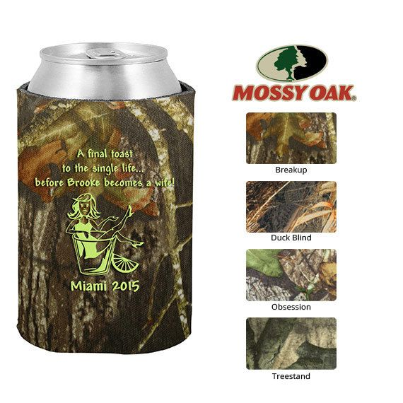 Mossy Oak Bachelorette Coozies  Clipart 6125  Final Toast To The Sing
