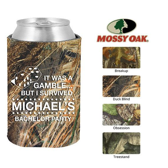 Mossy Oak Bachelorette Koozies  Clipart 6010  Gamble But I Survived L