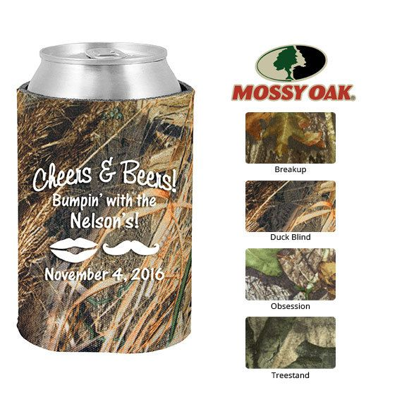 Mossy Oak Birthday Camo Koozies  Clipart 19066  Lips And Mustache   C