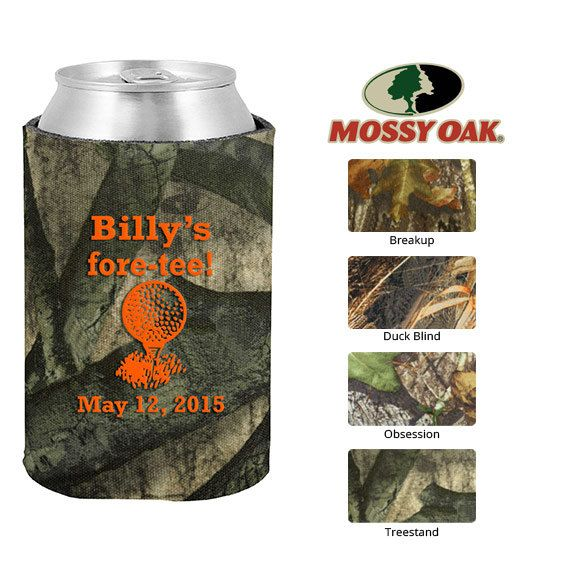 Mossy Oak Birthday Camo Koozies  Clipart 19127  40th With Golf Tee