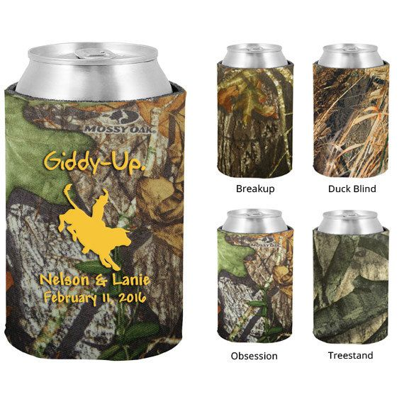 Mossy Oak Camo Wedding Koozies  Clipart 1172  Rodeo Theme   Personali