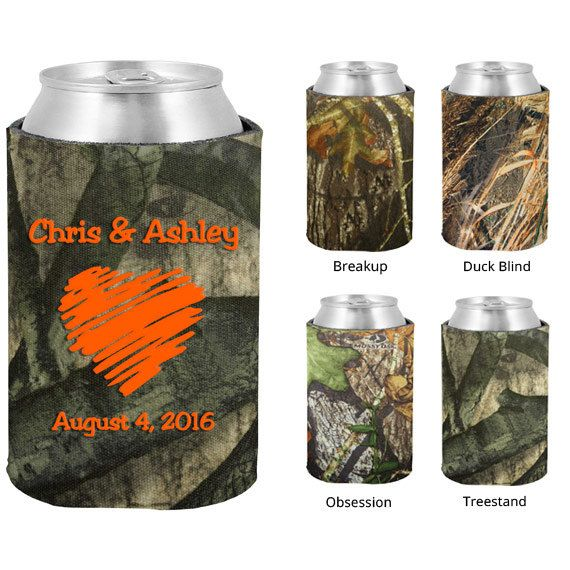 Mossy Oak Wedding Koozies  Clipart 1027  Drawn Heart   Personalized C