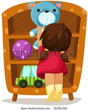 Pick Up Toys Clipart Illustration Of Isolated Girl