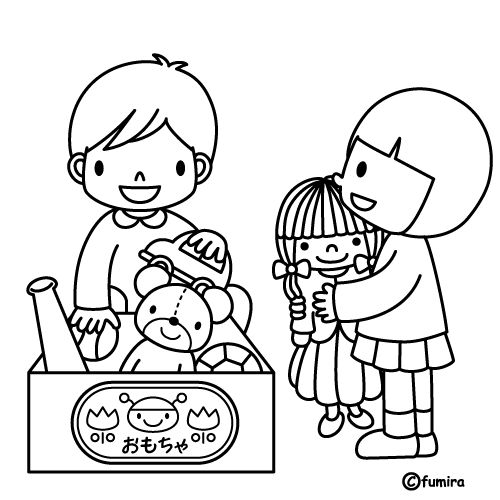 Picking Up Toys Free Coloring Pages   Coloring Pages