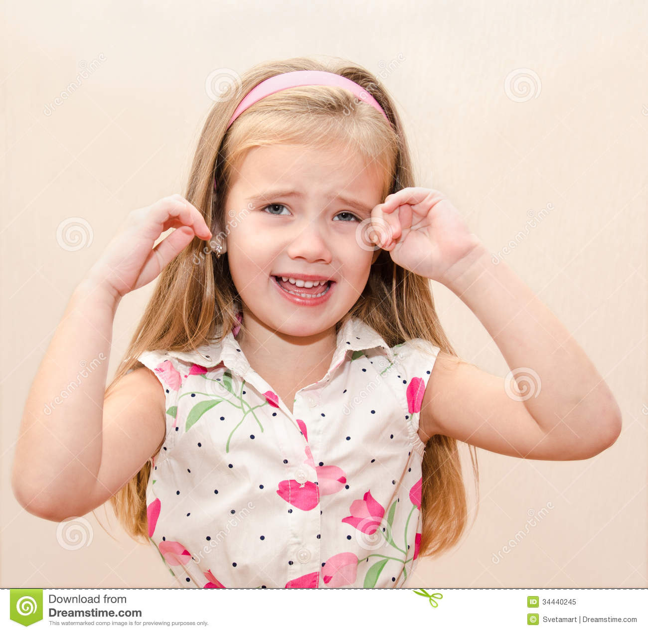 Portrait Of Disobedient Little Girl Royalty Free Stock Photo   Image