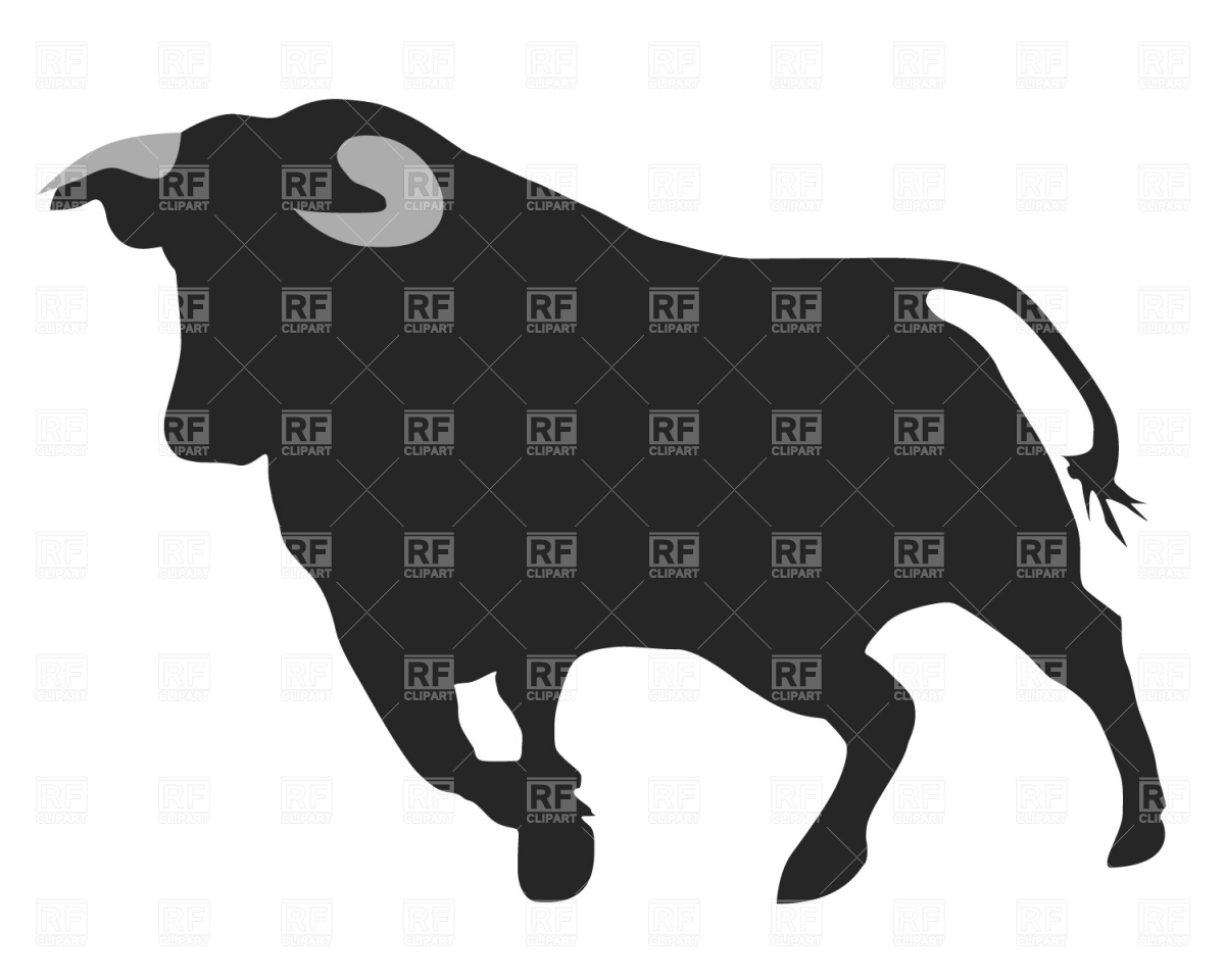 Running Bull Silhouette 354 Download Royalty Free Vector Clipart