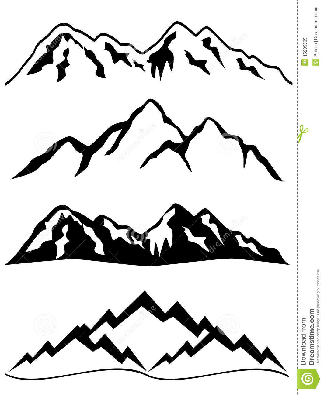 Snowy Mountain Clip Art Mountains With Snow