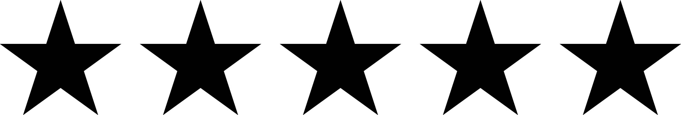 Image result for five black star
