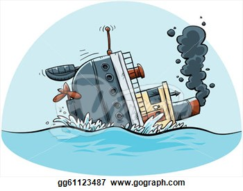 Stock Illustrations   Sinking Ship  Stock Clipart Gg61123487   Gograph