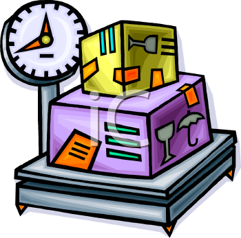 Industrial Weight Scale Clip Art
