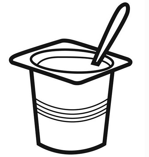 Yogurt Black And White Clipart - Clipart Kid