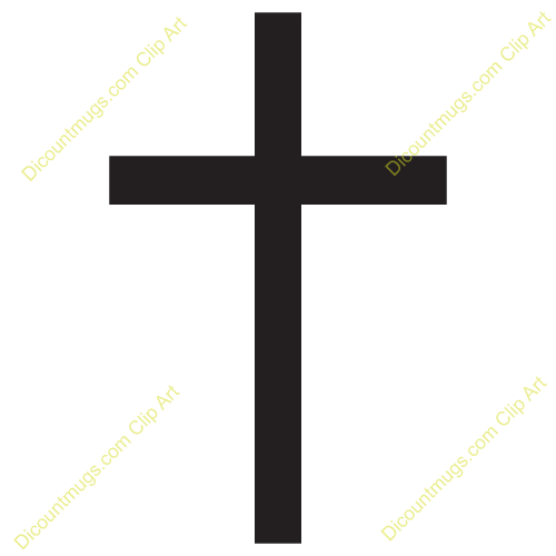 Clipart 11388 Simple Cross   Simple Cross Mugs T Shirts Picture