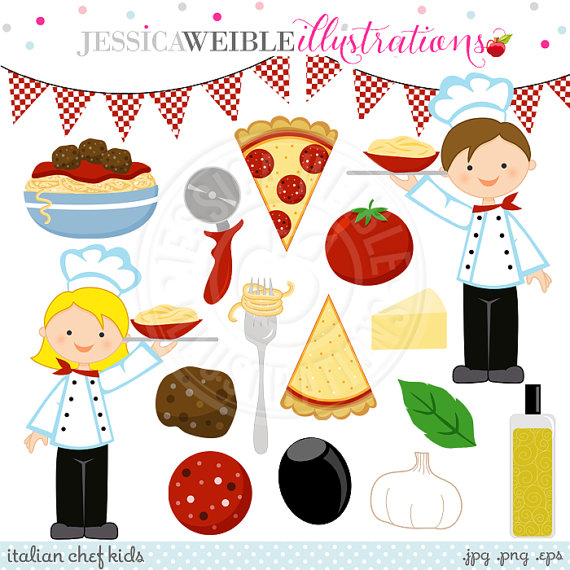 Clipart   Commercial Use Ok   Pizza Clipart Chef Clipart Italian