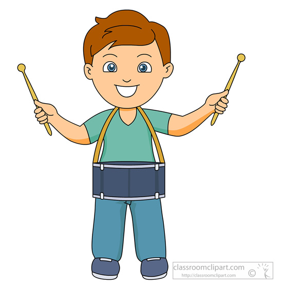Information Caption Boy Playing Drum Clipart Headline Boy Playing