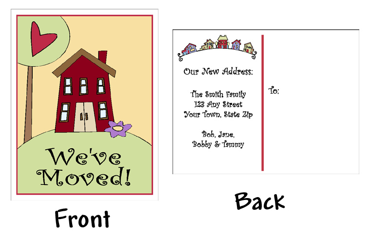 Change of address clip art cliparts for We have moved cards templates