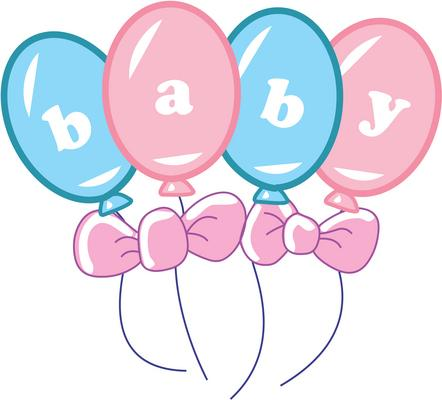 Pregnant Woman Celebrating Birthday Clipart