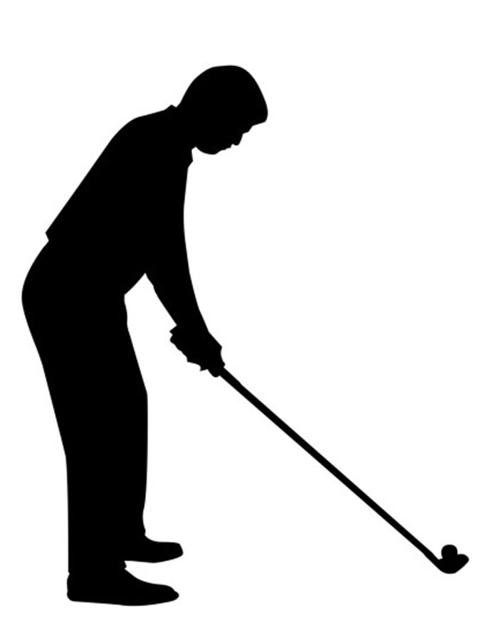 Showing Gallery For Golfer Silhouette Clip Art