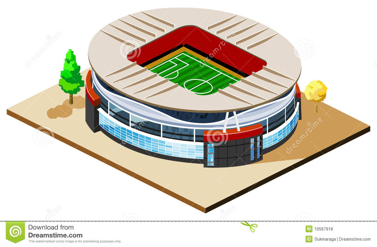 Soccer Stadium Isometric Royalty Free Stock Photos   Image  10567918