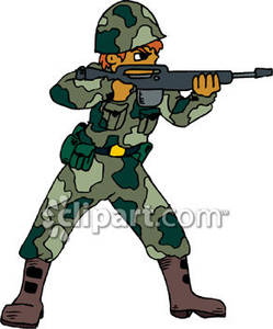 Army Combat Clipart - Clipart Kid