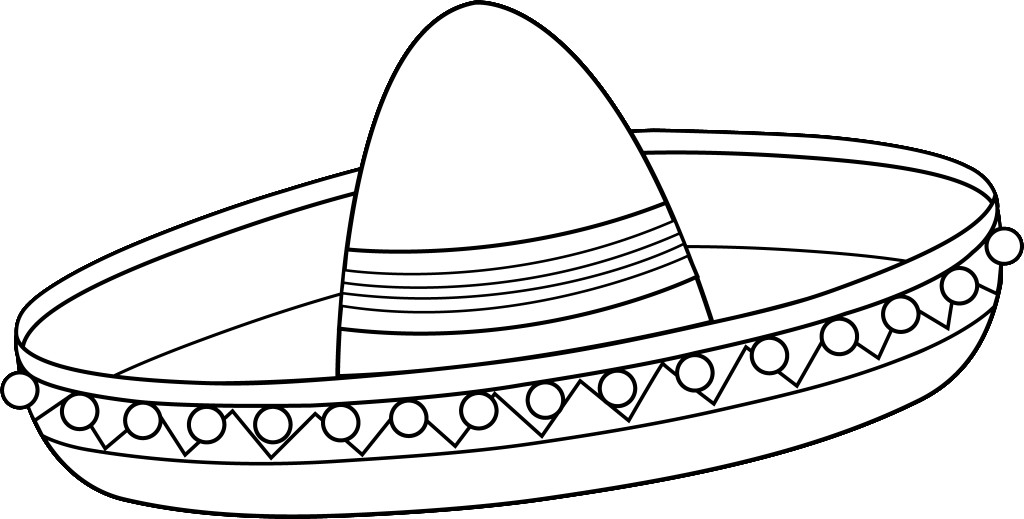 Sombrero Hat Coloring Pages For Kidsfree Coloring Pages For Kids