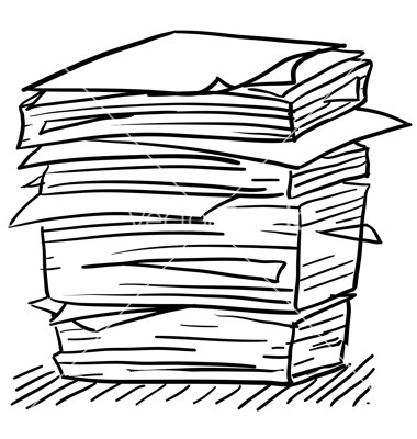 Stack Of Paper Clip Art Stack Of Paper Vector Doodle Paper Stack