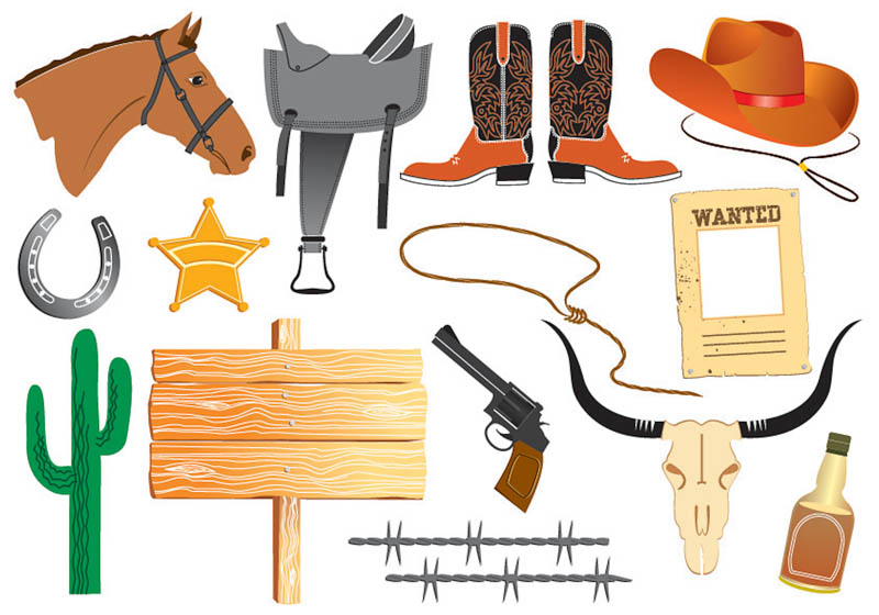 Star Etc  For Your Wild West Designs  Format  Eps Or Ai Stock Vector